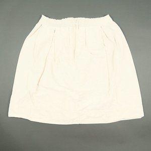 Ann Mashburn Tan White Pincord Striped Pleated Skirt Size Large